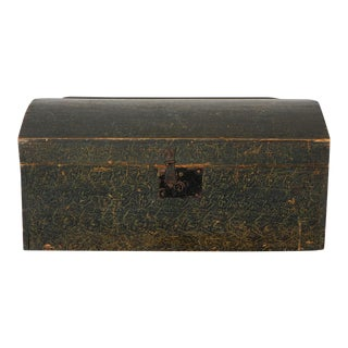 19th Century Original Paint Decorated Dome Top Box from Pennsylvania For Sale