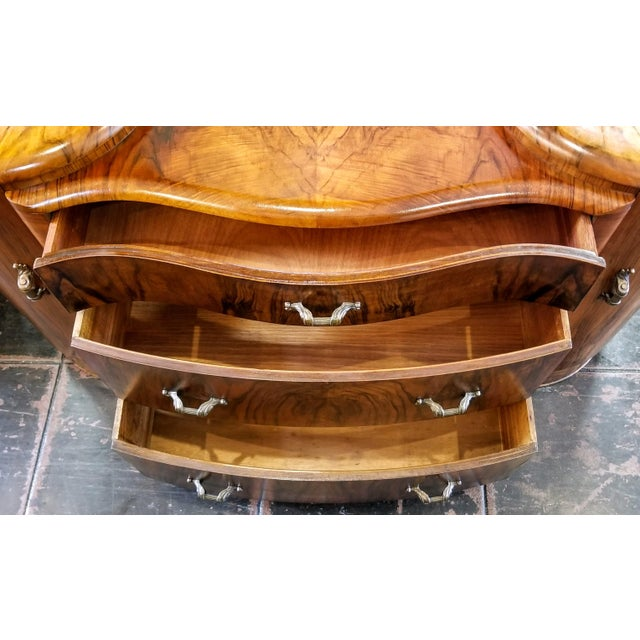 Mid 20th Century Vintage Mirrored Bedroom Vanity by Shrager Brothers Masterpiece Furniture, London For Sale - Image 5 of 12