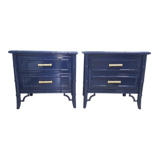 Dixie Aloha Faux Bamboo Nightstands - a Pair For Sale