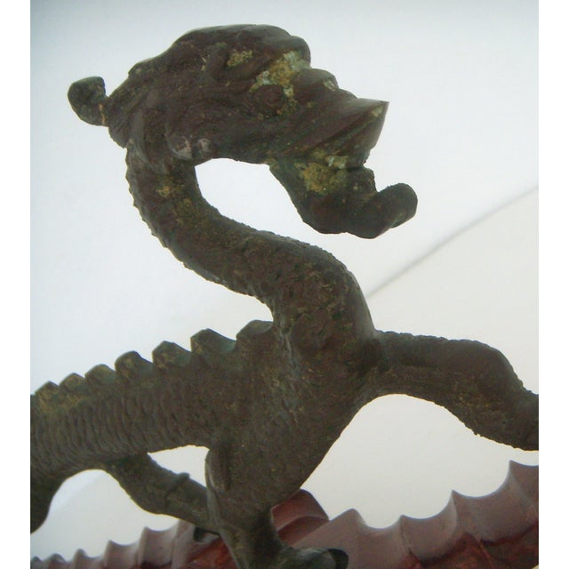 Chinese 'Running Dragon' on Rosewood Stand - Image 6 of 6