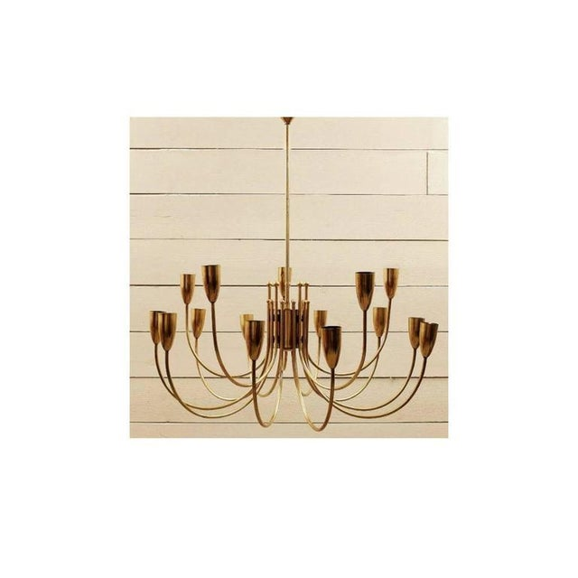 Two Pairs of 1970s Brass Chandeliers For Sale - Image 6 of 6