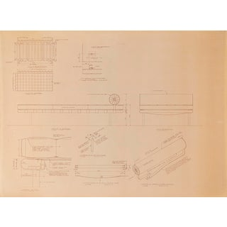 Mies Van Der Rohe Design Drawing, Couch For Sale