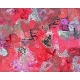 "Extra-Large ""Dreaming Hamlet"" by Trixie Pitts Abstract Oil Painting For Sale"