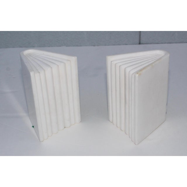 1950s carved marble Italian bookends.
