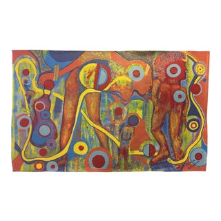 Tribal Time Original Acrylic Painting For Sale