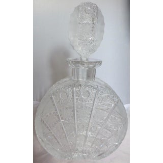 Antique 1920's Pattern Glass Decanter Preview