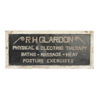 "Antique Tin ""Physical & Electric Therapy"" Sign For Sale"