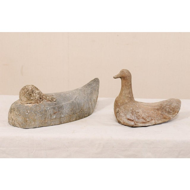 Pair of 19th Century French Carved Stone Ducks For Sale - Image 10 of 12