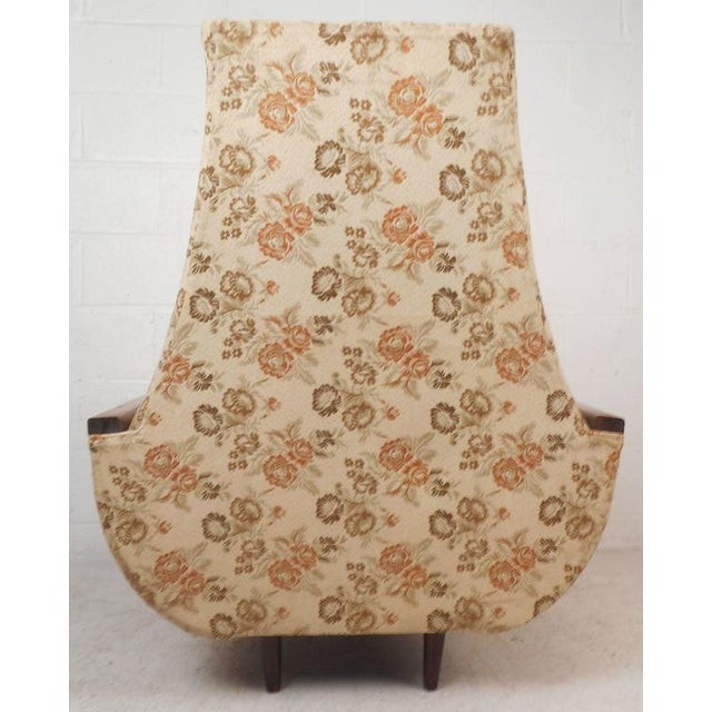 Adrian Pearsall Style Mid-Century Modern High Back Lounge Chair For Sale - Image 4 of 10