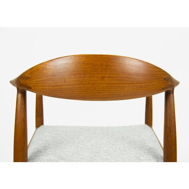 Hans Wegner for Johannes Hansen Teak Round Arm Chair For Sale - Image 9 of 13