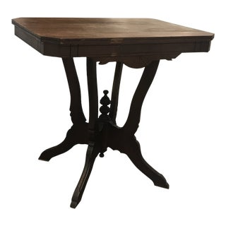 Antique Queen Anne Victorian Carved Side Table For Sale