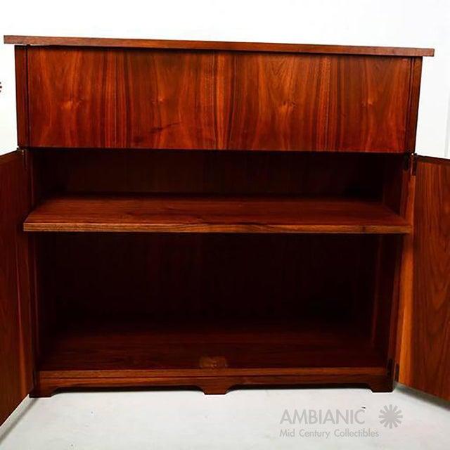Mid-Century Modern Walnut Cabinet Desk For Sale - Image 4 of 10