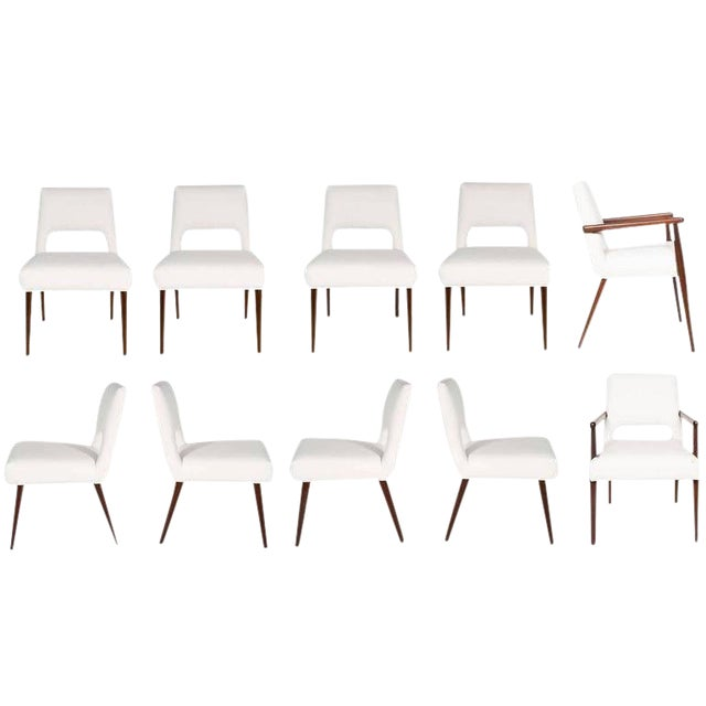 Customizable Set of Ten Hofford Dining Chairs For Sale