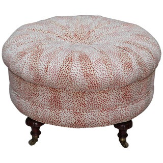 Oversized Exotic Leopard Pouf