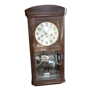 Vintage Mission Style Jonesman Wittenberg Wall Clock For Sale