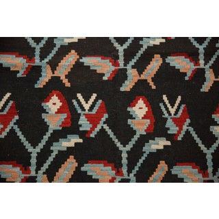 "Vintage Natural Dyes Turkish Kilim Rug - 3'8"" X 6' Preview"