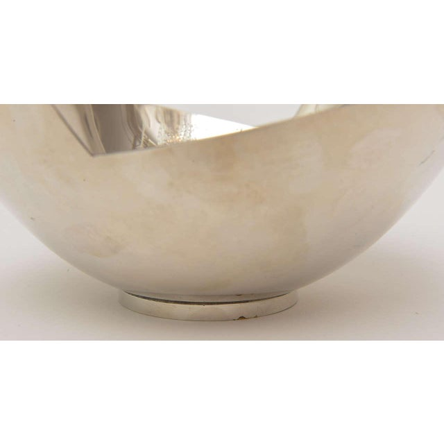 Signed Sculptural Silver Plate Bowl by Elsa Rady for Swid Powell For Sale In Miami - Image 6 of 11