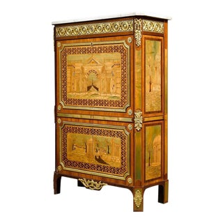 Ornate Secretary by André Gilbert For Sale