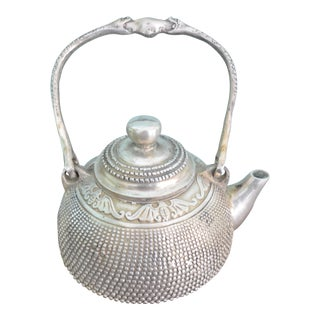 Antique 18th Century Silver Teapot For Sale