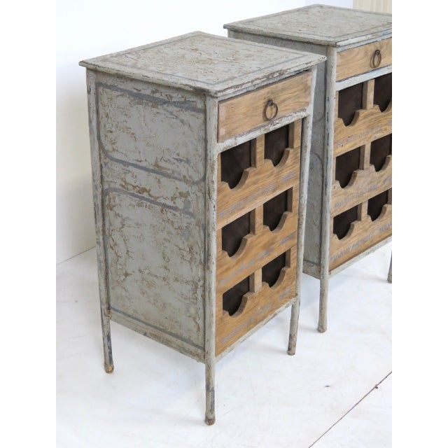 Industrial Metal & Oak Wine Chests - A Pair - Image 2 of 7