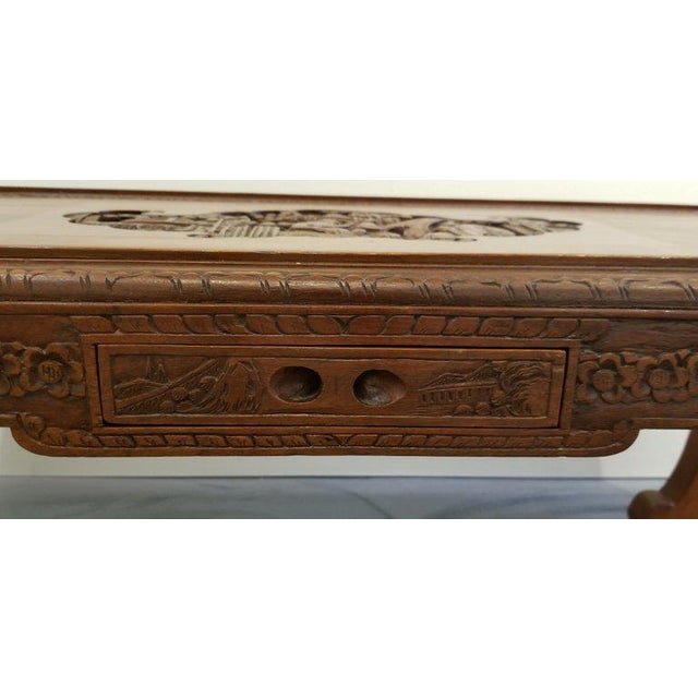Carved Chinese Coffee Table For Sale - Image 9 of 10