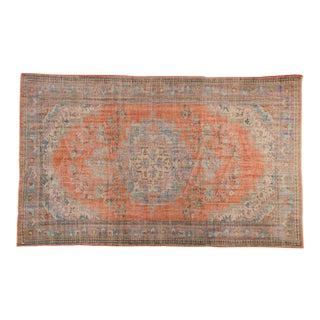 "Vintage Distressed Oushak Carpet - 6' X 9'8"" For Sale"