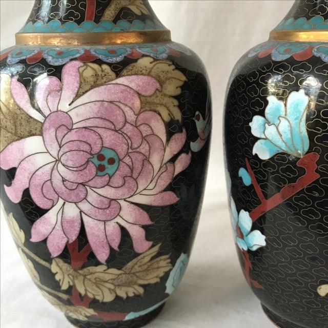 Large Cloisonné Vases - Pair - Image 5 of 5