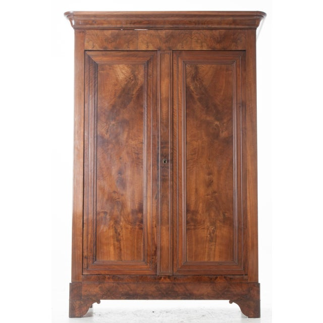 French 19th Century Walnut Louis Philippe Armoire - Image 2 of 10