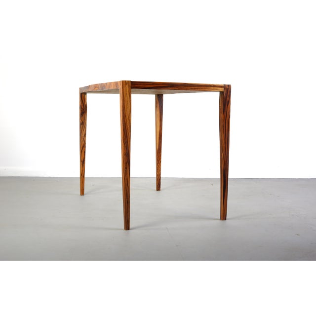 1970s 1970s Danish Modern Zebra Wood Writing Desk/Console Table For Sale - Image 5 of 7