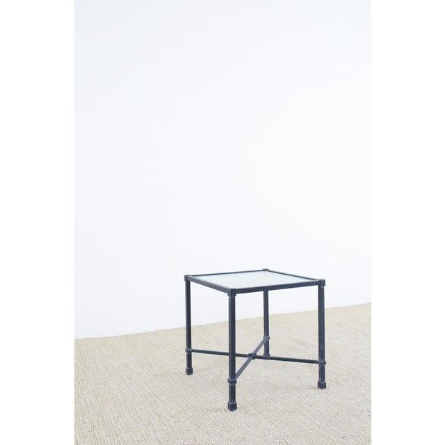 Brown Jordan Venetian Aluminum Cube Drinks Tables For Sale - Image 9 of 10