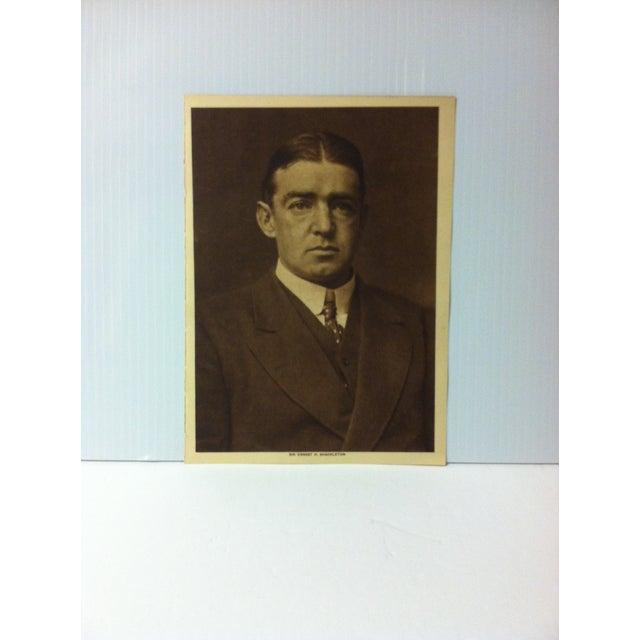 "Circa 1915 ""Sir Ernest H. Shackleton"" the Mentor Association Print For Sale - Image 4 of 4"