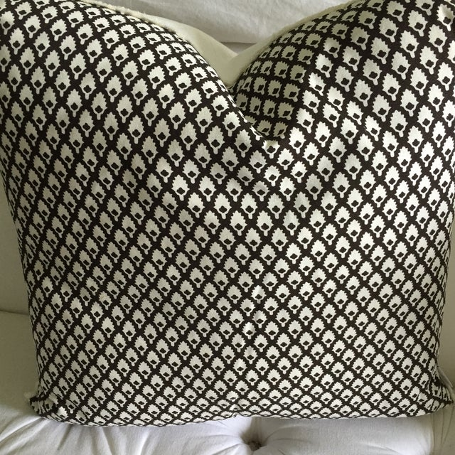 Chocolate Lacefield Designs Pillows- A Pair - Image 3 of 6