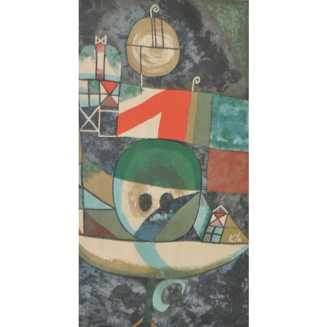 Mid-Century Modern Paul Klee Vintage 1950s Silkscreen For Sale - Image 3 of 9