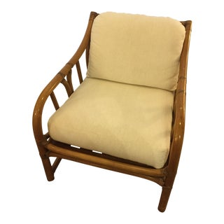 1960s Boho Chic Bamboo Rattan Side Chair