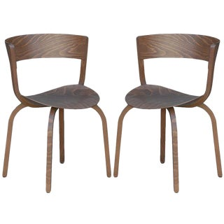 Mid Century Stefan Diez for Thonet 404 F Bentwood Chairs- a Pair For Sale