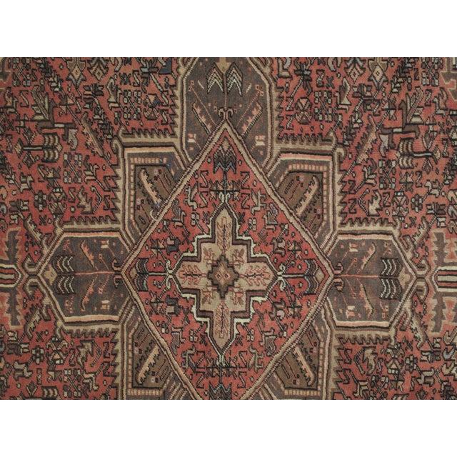"Leon Banilivi Vintage Persian Heriz Brown Rug - 9'1"" X 7'3"" - Image 5 of 6"