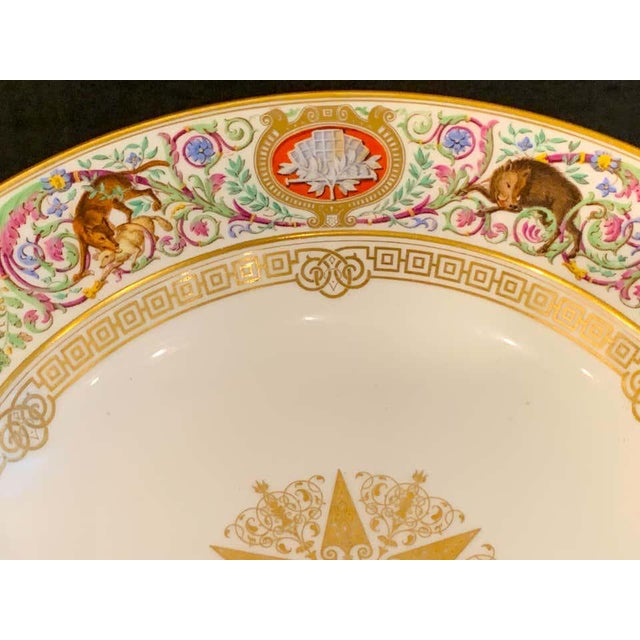 19th Century Sevres Porcelain Ormolu Tazza, From the Hunting Service of King Louis Philippe For Sale - Image 5 of 12