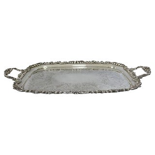 English Silver-Plate Serving/Bar Tray For Sale
