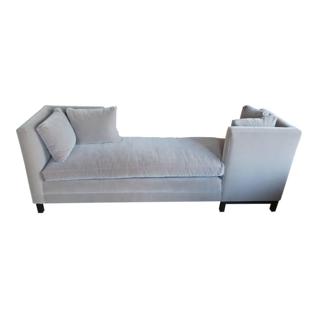 Modern Mid-Century Harvey Probber Tete-A-Tete Gray Sofa For Sale