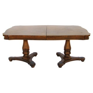 Walnut Pedestal Dining Table For Sale