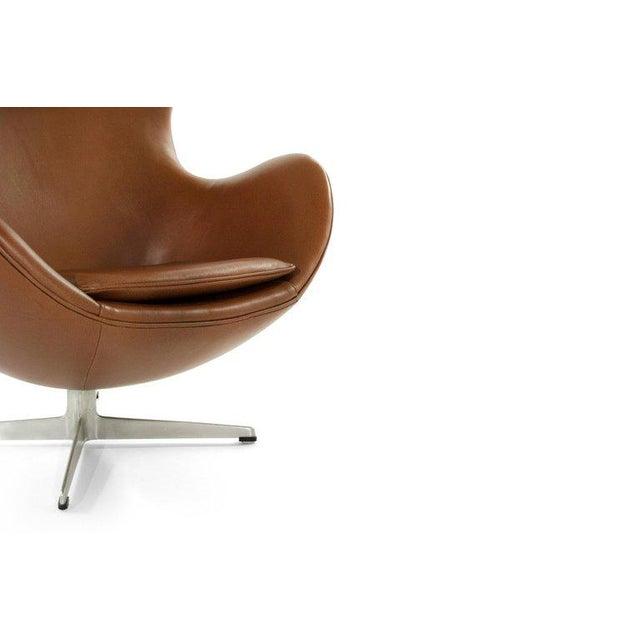 Arne Jacobsen for Fritz Hansen Egg Chair and Footstool, Denmark, 1966 For Sale In New York - Image 6 of 13