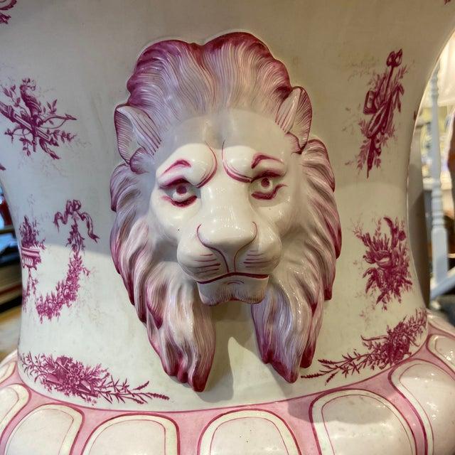 Ceramic 19th Century Porcelain Rose Colored Urn For Sale - Image 7 of 9
