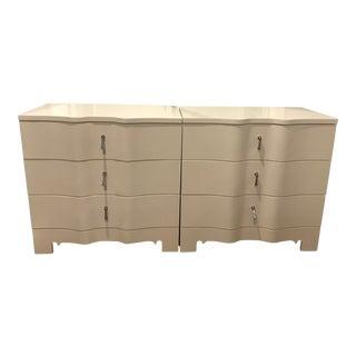 Brigitte 3-Drawer Side Tables - A Pair