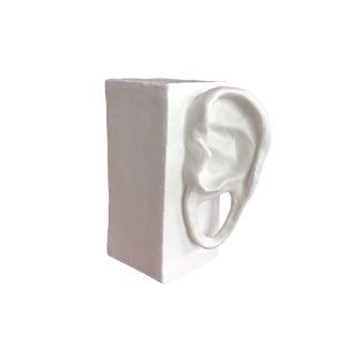 """Late 20th Century """"Gauged Ears"""" Modernist Sculpture For Sale"""