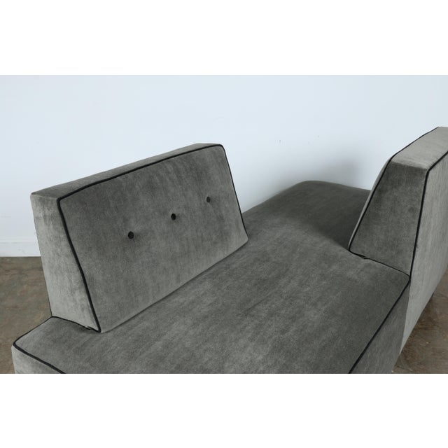1960s Modern Mohair Double Sided Sofa For Sale - Image 5 of 11