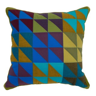 Modern Square Multi-Color Quilted Pillow For Sale
