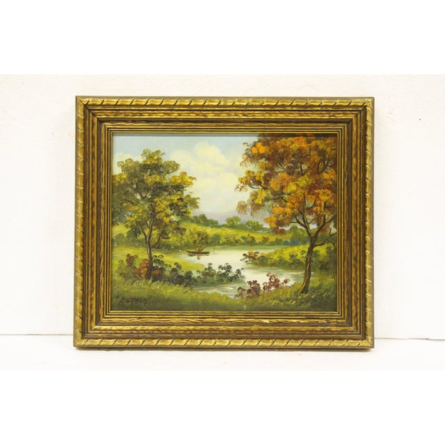 1960s Signed Oil Portrait of Fisherman in Autumn For Sale - Image 5 of 5