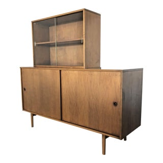 Paul McCobb Maple Credenza Wall Unit For Sale