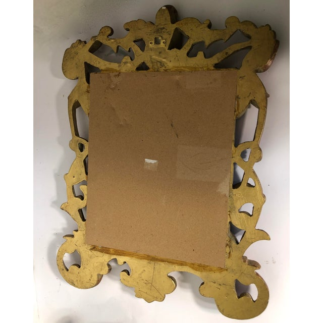 Italian Baroque Gold Gilt Mirror For Sale - Image 4 of 5