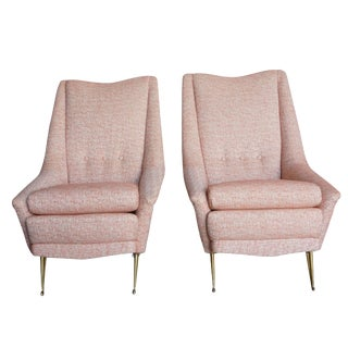 20th Century Marco Zanusso Style Lounge Chairs For Sale